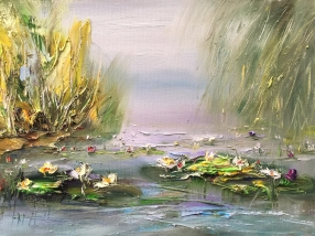 Water lilies in the park